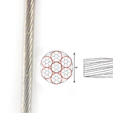 Scope RVS Kabel 7x7 8mm p/m