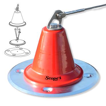 De Scope DP het hoofdcomponent voor het valbeveiliging systeem op het dak.