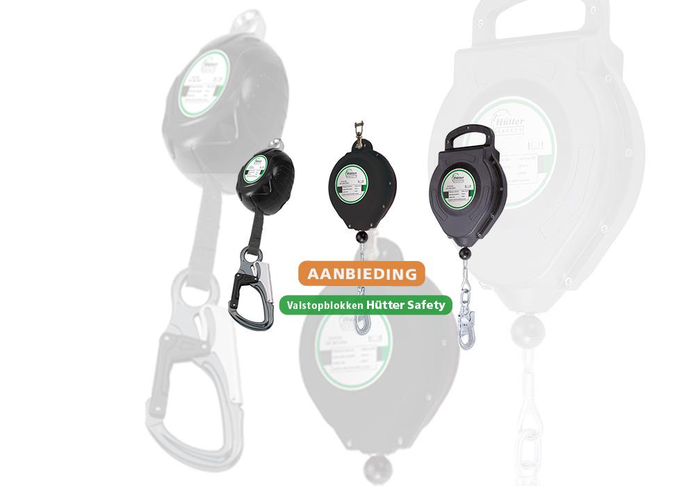 Afbeelding van de Hutter Safety valstopblokken aanbieding.