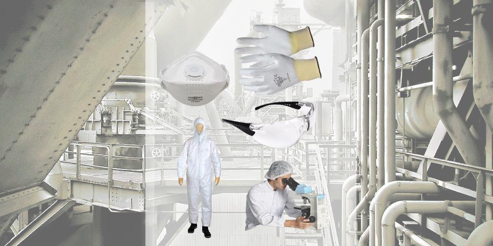Afbeelding van persoonlijke beschermingsmiddelen (PBM) Hütter Safety.