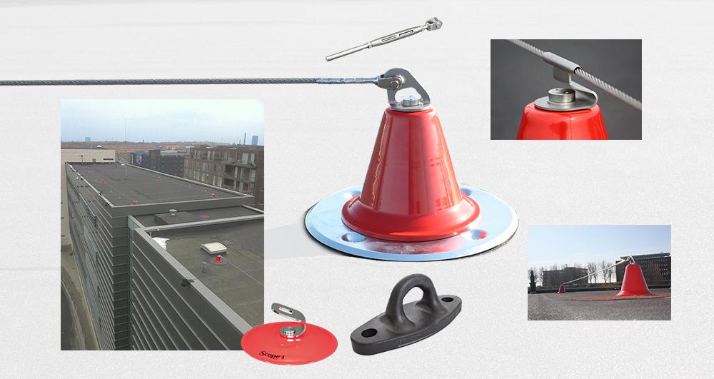 Afbeelding met het Scope valbeveiliging lijnsysteem.