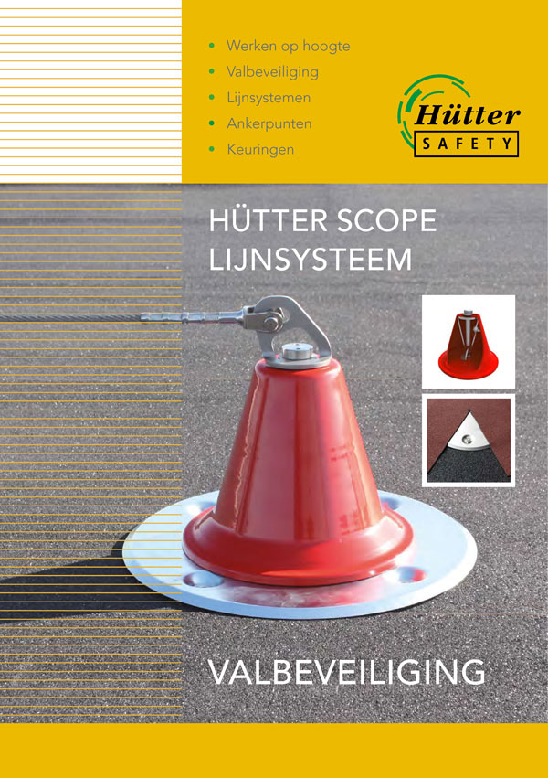 Foto van voorpagina brochure Hütter Scope Lijnsysteem.